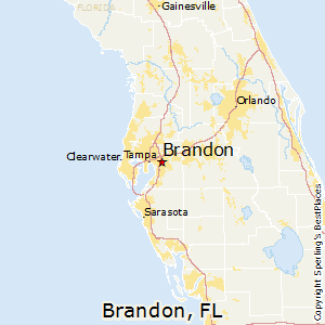 Brandon,Florida Map