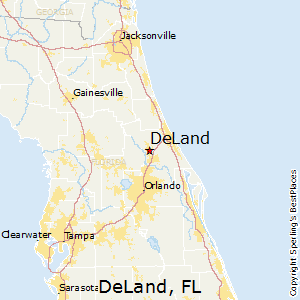 DeLand,Florida Map