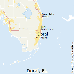 Doral,Florida Map