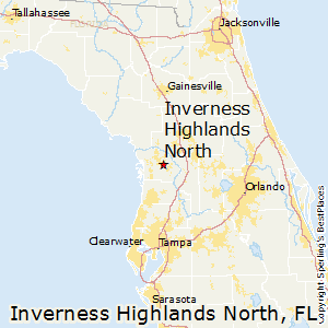 Inverness_Highlands_North,Florida Map