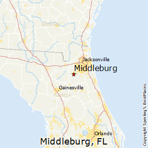 Middleburg,Florida Map