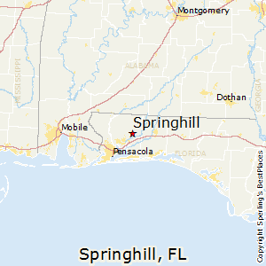 Springhill,Florida Map