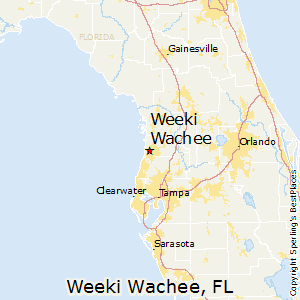 Weeki_Wachee,Florida Map