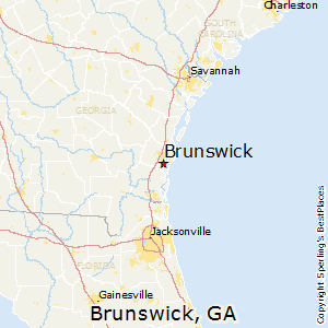 Brunswick,Georgia Map
