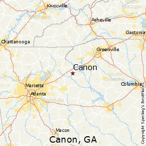 Canon,Georgia Map