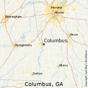Columbus,Georgia Map