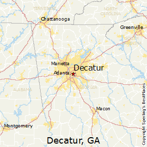 Decatur,Georgia Map