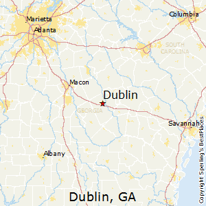 Dublin,Georgia Map