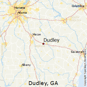 Dudley,Georgia Map