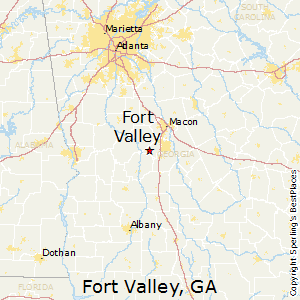 Fort_Valley,Georgia Map