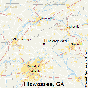 Hiawassee,Georgia Map