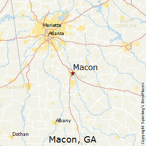 Macon,Georgia Map