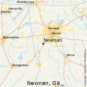 Newnan,Georgia Map