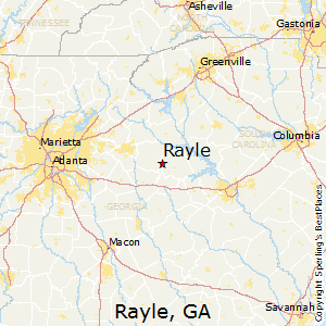 Rayle,Georgia Map