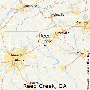 Reed_Creek,Georgia Map