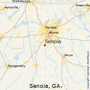 Senoia,Georgia Map