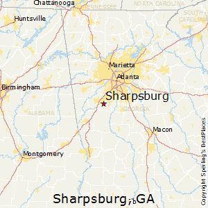 Sharpsburg,Georgia Map