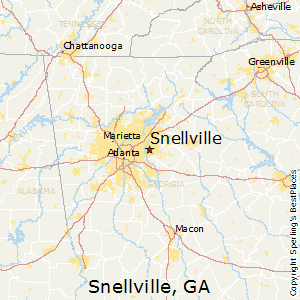 Snellville,Georgia Map