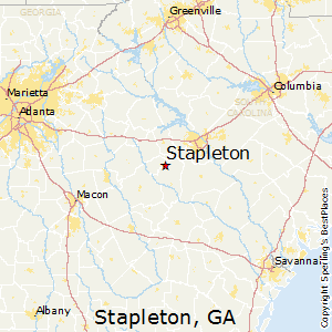 Stapleton,Georgia Map