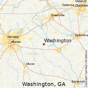 Washington,Georgia Map