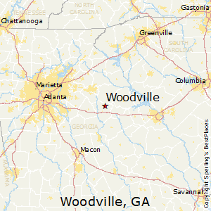 Woodville,Georgia Map