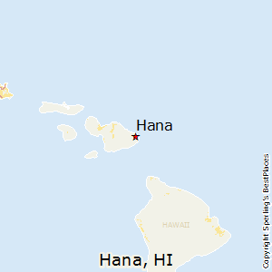 Hana,Hawaii Map