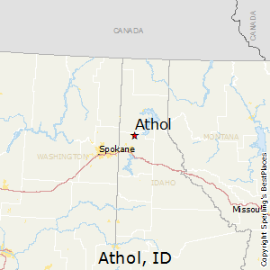Athol,Idaho Map