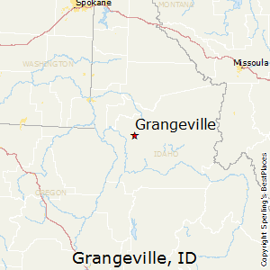 Grangeville,Idaho Map