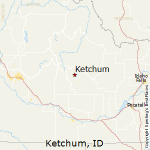 Ketchum,Idaho Map
