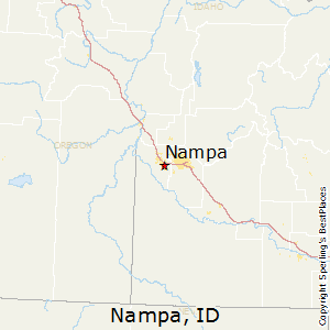 Nampa,Idaho Map
