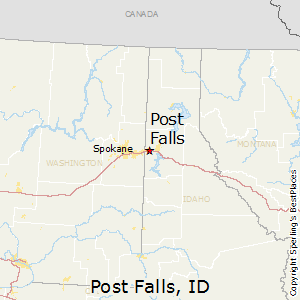 Post_Falls,Idaho Map