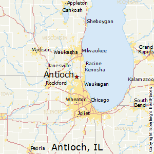 Antioch,Illinois Map