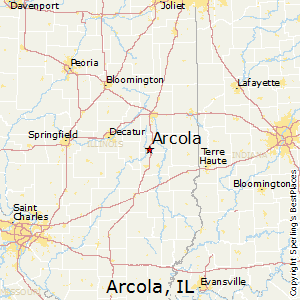 Arcola,Illinois Map