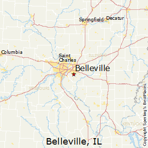 Belleville,Illinois Map