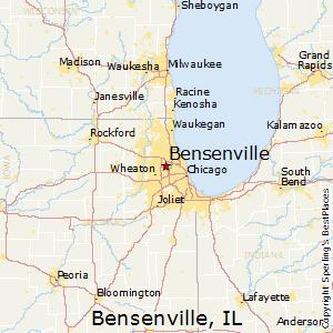 Comparison Franklin Park Illinois Bensenville Illinois - Illinois in us map