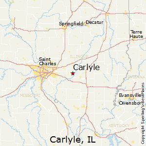 Carlyle,Illinois Map