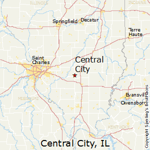 Central_City,Illinois Map
