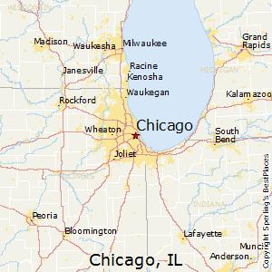 Chicago,Illinois Map