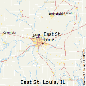East_St_Louis,Illinois Map