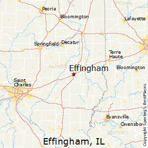Effingham,Illinois Map