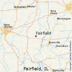 Fairfield,Illinois Map