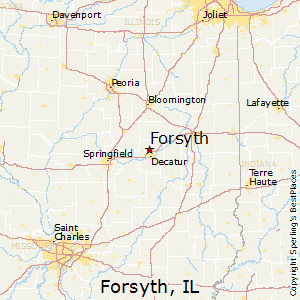 Forsyth,Illinois Map
