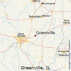Greenville,Illinois Map