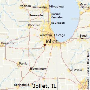 Joliet,Illinois Map