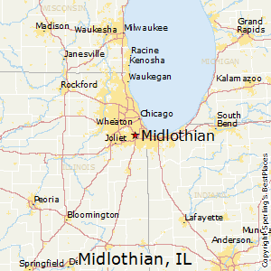 Midlothian,Illinois Map