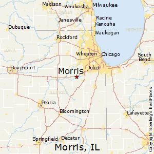 Morris,Illinois Map