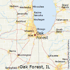 Oak_Forest,Illinois Map