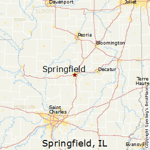 Springfield,Illinois Map