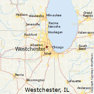 Westchester,Illinois Map