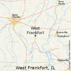 West_Frankfort,Illinois Map